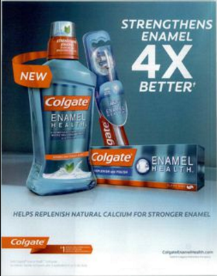 Colgate print or digital display ad.