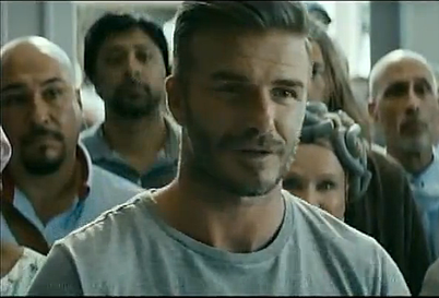 David Beckham in a T-Mobile ad.