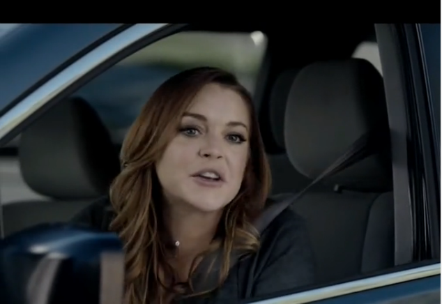 Esurance TV spot with Lindsay Lohan