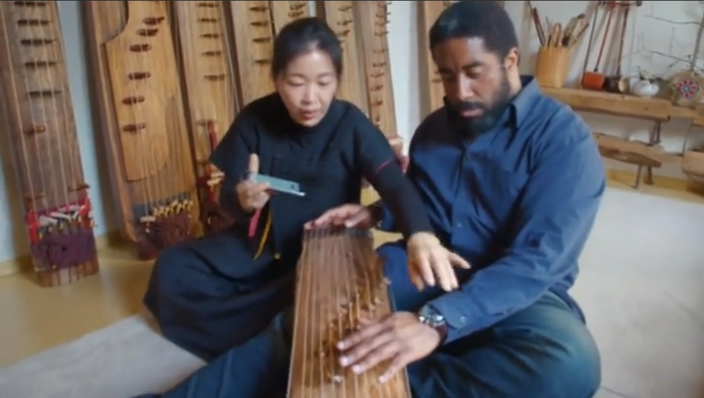 Beautiful picture from Microsoft's ad showing how a new Google app can communicate between cultures.