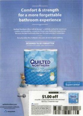 Quilted Northern print ad.