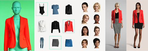 Looklet replaces mannequin faces with human ones and allows fashion stores to see how outfits look on computer.