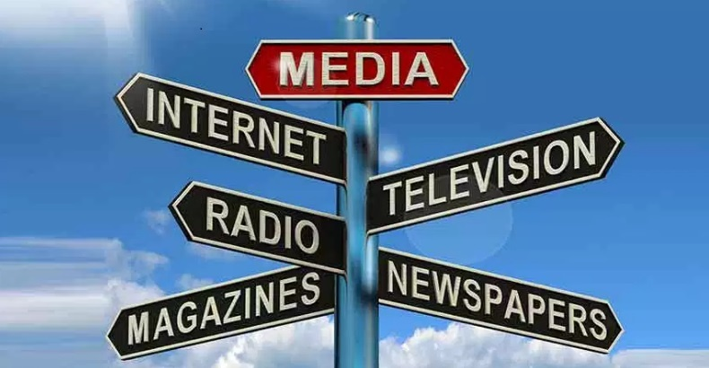 Picture of street sign showing all media type names.