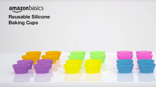 Online Video from Amazon of Silicone Cups