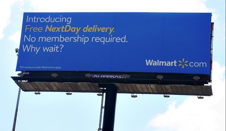 OOH ad from Walmart