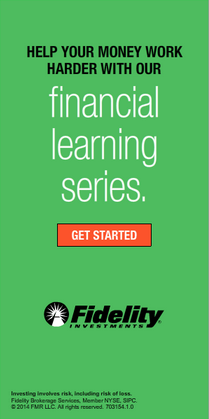 Very simple online static ad for Fidelity's Financial Learning Series.