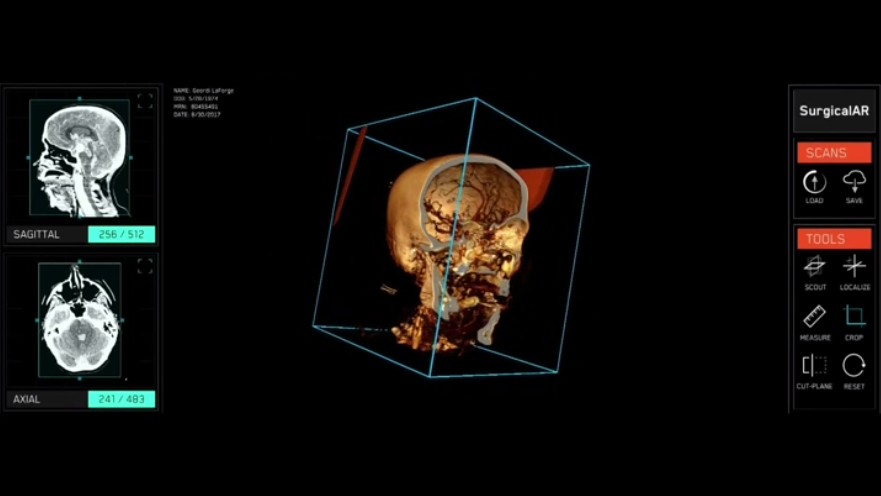 Verizon ad showing 3D image being worked on to cure cancer