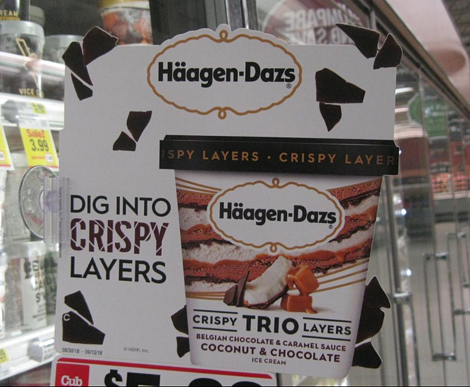 Haagen Dazs Ice Cream Shelf Topper