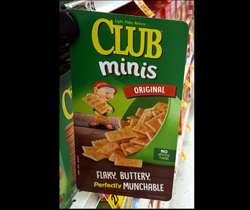Club Minis shelf topper photo, which is colorful and delicious.